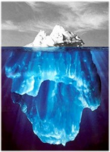 Only a tip of the iceberg is being translated by professional translators.
